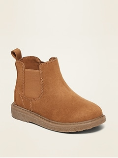Faux-Suede Chelsea Boots for Toddler Boys