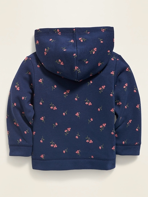 Unisex Logo-Graphic Floral Zip Hoodie for Baby