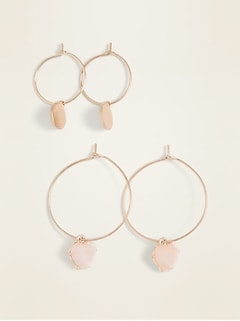 Hoop Earrings 2-Pack for Women