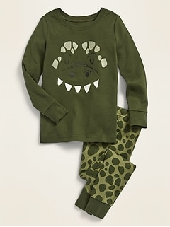 Dino-Graphic Pajama Set for Toddler Boys & Baby