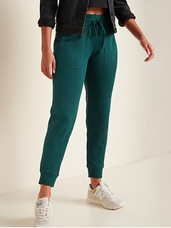 Mid-Rise Sweater-Knit Jogger Pants for Women