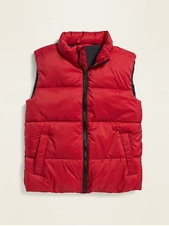 Frost-Free Solid Puffer Vest for Boys