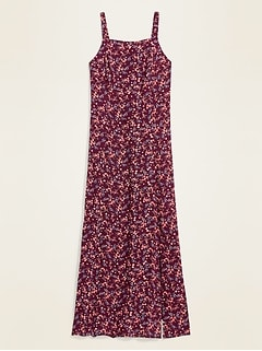 Floral-Print Fit & Flare Cami Maxi Dress for Women