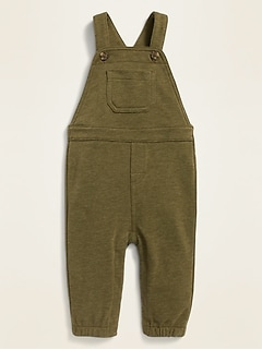 Unisex Fleece-Knit Overalls for Baby