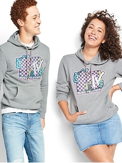 MTV™ Graphic Gender-Neutral Pullover Hoodie for Men & Women