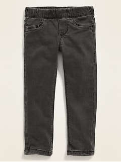 Gray-Wash Extra-Stretch Skinny Jeggings for Toddler Girls