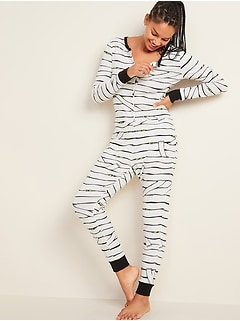 Halloween Glow-in-the-Dark Graphic One-Piece Pajamas for Women
