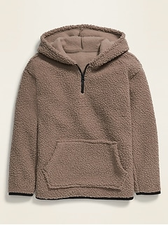 1/4-Zip Sherpa Pullover Hoodie for Boys
