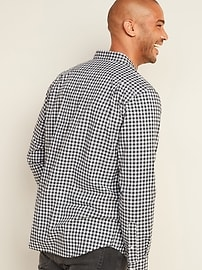 Regular-Fit Built-In Flex Plaid Everyday Shirt for Men