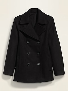 Soft-Brushed Peacoat for Women