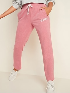 Logo-Graphic French-Terry Lounge Pants for Women