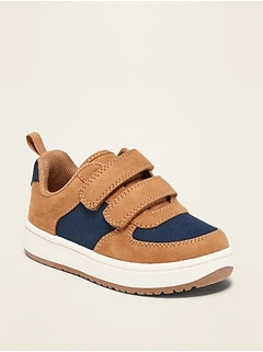 Faux-Suede Secure-Close Sneakers for Toddler Boys