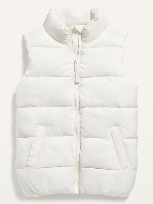 Frost-Free Solid Puffer Vest for Girls