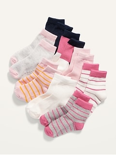 Unisex Crew Socks 8-Pack for Toddler & Baby