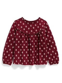 Floral Babydoll Top for Toddler Girls