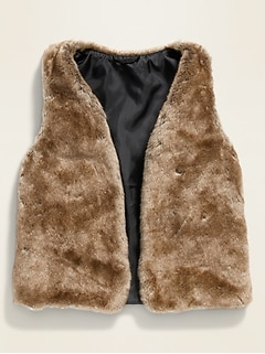 Faux-Fur Vest for Girls