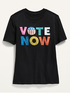 Gender-Neutral Vote Graphic Tee for Kids