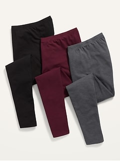 High-Waisted Jersey Leggings 3-Pack for Women
