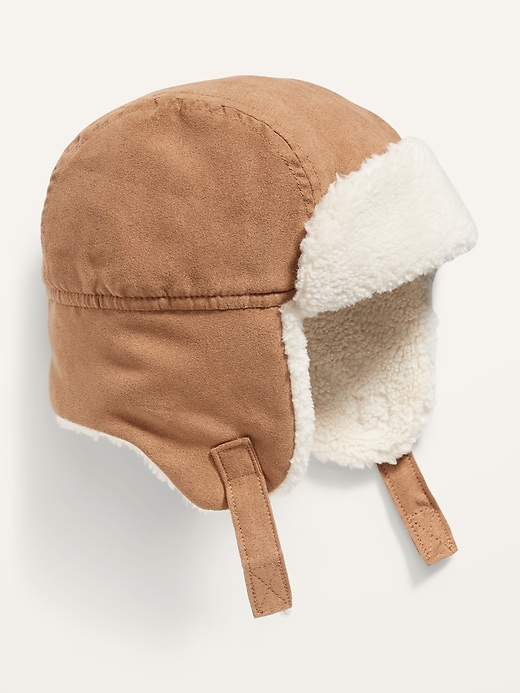 Unisex Sherpa-Lined Trapper Hat for Baby
