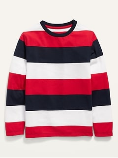 Softest Long-Sleeve Striped Tee for Boys