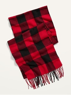 Cozy Flannel Scarf for Men