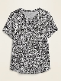 Luxe Printed Crew-Neck Tee for Women