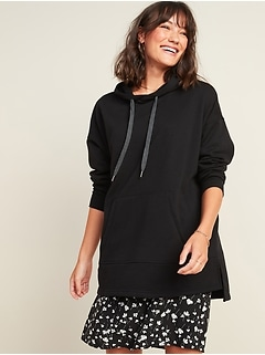 Oversized French Terry Pullover Hoodie for Women
