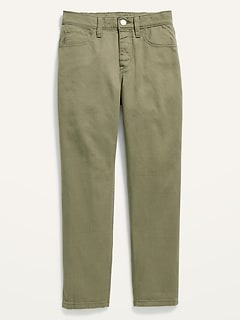 High-Waisted Pop-Color Tapered Chinos for Girls