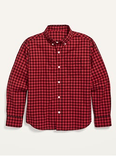 Built-In Flex Poplin Pocket Shirt for Boys