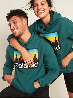 Polaroid™ Graphic Gender-Neutral Pullover Hoodie for Men & Women