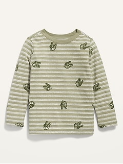 Unisex Printed Long-Sleeve Tee for Toddler