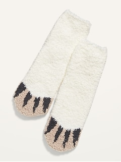 Gender-Neutral Printed Cozy Socks for Kids
