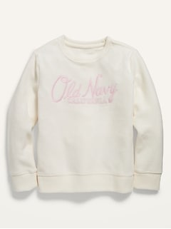 Logo-Graphic Micro Performance Fleece Sweatshirt for Girls