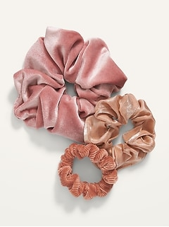 Luxe Hair Scrunchies 3-Pack for Women