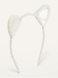 Beaded Cat's-Ear Headband for Girls