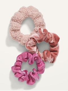 Hair Scrunchie 3-Pack for Girls