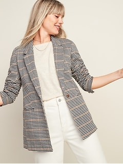 Oversized Patterned Blazer for Women