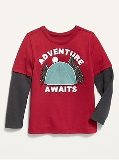 2-in-1 Long-Sleeve Tee for Toddler Boys