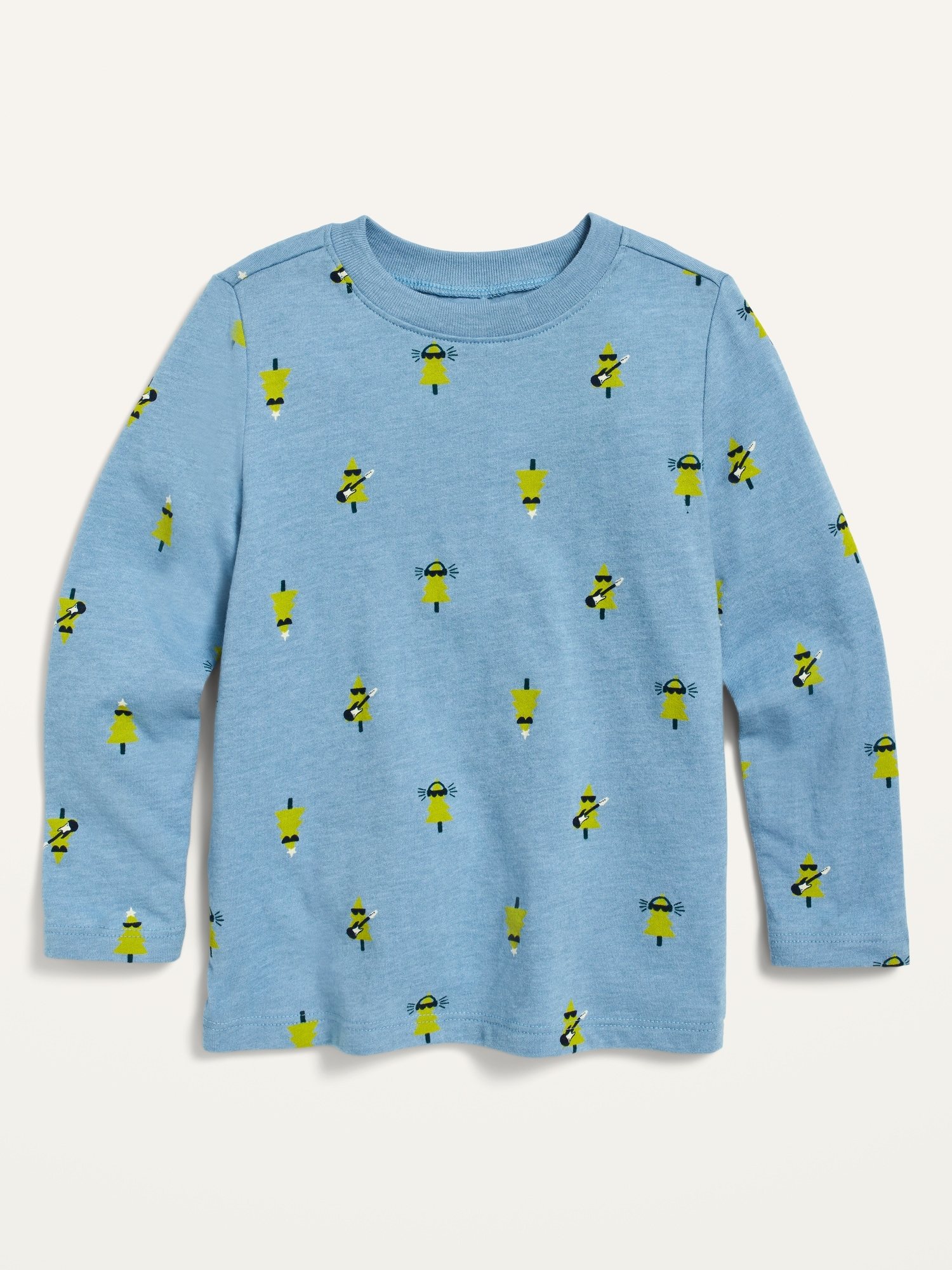 Long-Sleeve Printed Tee for Toddler Boys