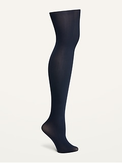 Control-Top Solid-Color Nylon Tights for Women