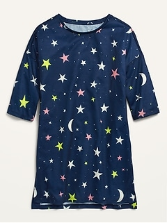 3/4-Sleeve Jersey Nightgown for Girls