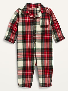 Unisex Cozy Flannel One-Piece for Baby