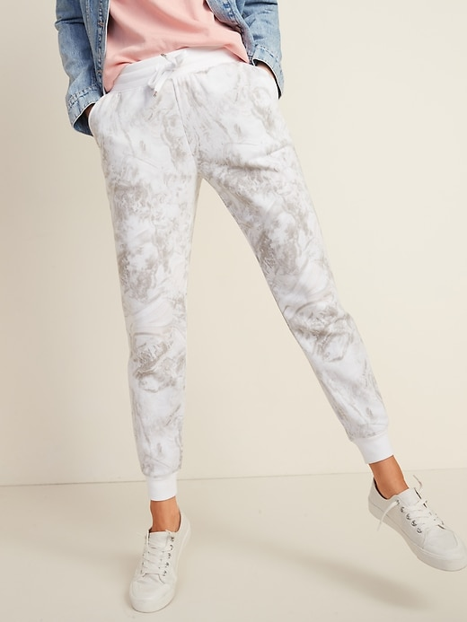 Mid-Rise Tapered-Leg Jogger Pants for Women