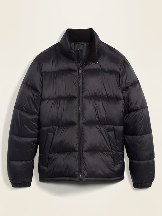 Frost-Free Zip-Front Puffer Jacket for Men