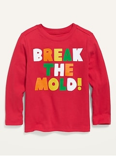 Unisex Graphic Long-Sleeve T-Shirt for Toddler