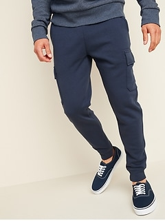 Tapered Cargo Jogger Sweatpants for Men