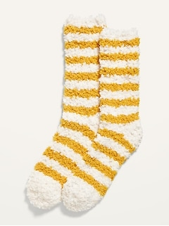 Cozy Striped Crew Socks for Women