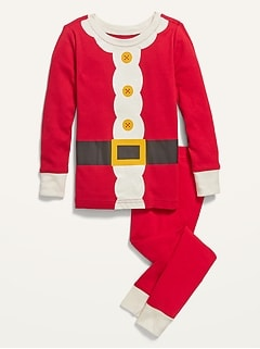Unisex Santa Costume Pajama Set for Toddler & Baby