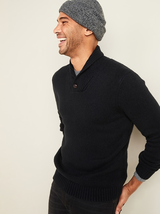 OLD NAVY Shawl-Collar Sweater for Men