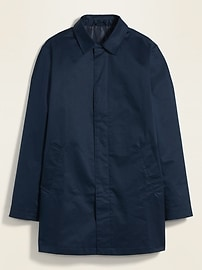 Water-Resistant Twill Mac Jacket for Men